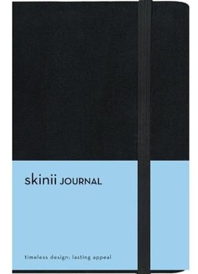 Skinii Journal, Compact, Italian Duo-Tone, Black, Hard Case  -     By: Zondervan