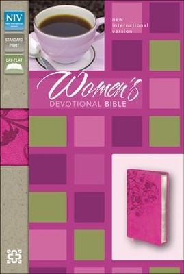 NIV Women's Devotional Bible, Italian Duo-Tone, Raspberry  -
