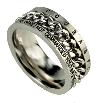 Chain Ring, Courageous, Size 10  -