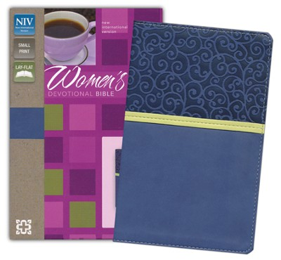NIV Women's Devotional Bible, Compact, Italian Duo-Tone, Blueberry - Imperfectly Imprinted Bibles  -