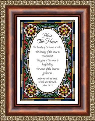 Bless This House, Joshua 24:15 Framed Print  -