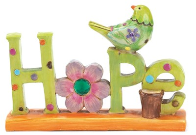 Hope Figurine with Bird  -