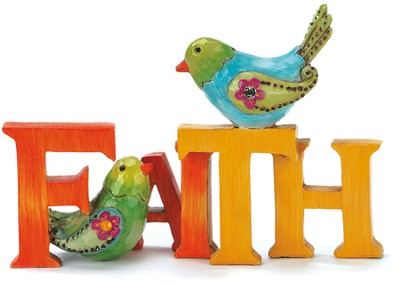 Faith Figurine with Bird  -
