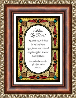 Sisters By Heart, James 1:17 Framed Print  -