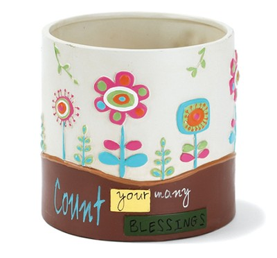 Count Your Blessings Flower Pot  -
