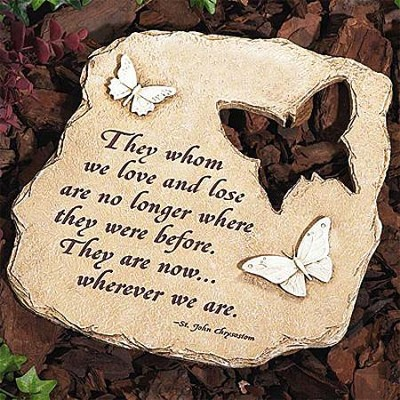 They Whom We Love, Butterfly Garden Stone  -