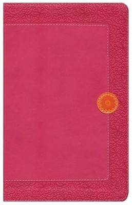 NIV Homeschool Mom's Bible: Daily Personal Encouragement, Italian Duo-Tone, Hot Pink  -
