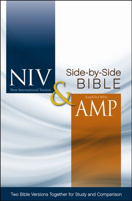 NIV and Amplified Side-by-Side Bible, Hardcover, Jacketed Printed  -
