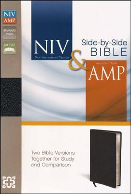 NIV and Amplified Side-by-Side Bible, Black  -