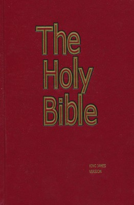 KJV Pew Bible, Red    -