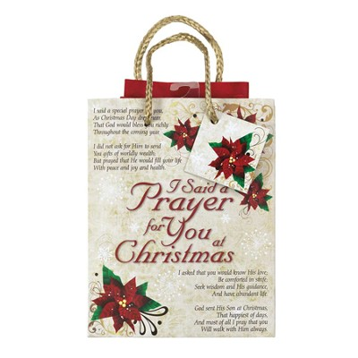 I Said a Prayer at Christmas Gift Bag, Small  -