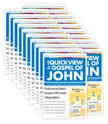 QuickView of the Gospel of John, Pack, Softcover  -     By: Zondervan