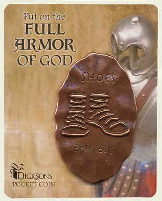 Full Armor of God Pocket Stone, Shoes  -
