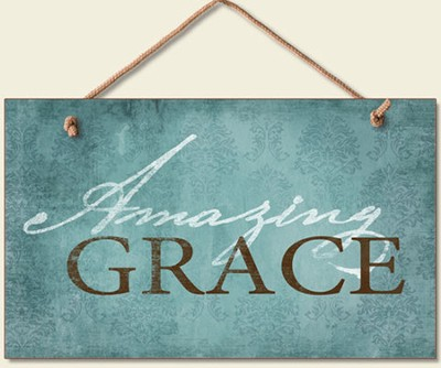 Amazing Grace Wood Sign  -