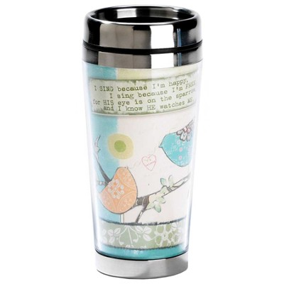His Eye Is On the Sparrow Travel Mug  -     By: Terri Conrad