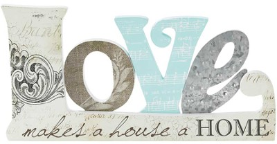 Love Makes A House A Home Plaque  -