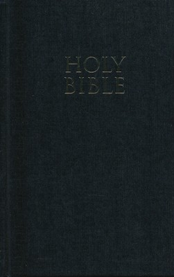 NIV Pew Bible, Large Print, Black   -