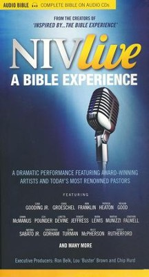 NIV Live: A Bible Experience--CDs with DVD   -
