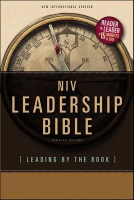 NIV Leadership Bible: Leading by The Book, Hardcover, Jacketed Printed  -