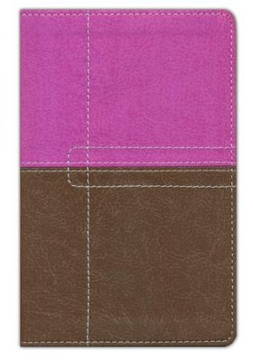 NIV ReadEasy Bible, Compact, Italian Duo-Tone, Dark Orchid/Chocolate  -