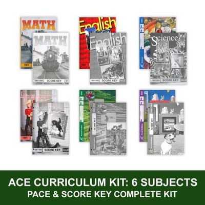 ACE Comprehensive Curriculum (6 Subjects), Single Student Complete PACE & Score Key Kit, Grade 6, 3rd Edition  -