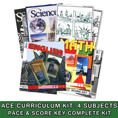 ACE Core Curriculum (4 Subjects), Single Student Complete PACE & Score Keys Kit, Grade 10, 3rd Edition  -
