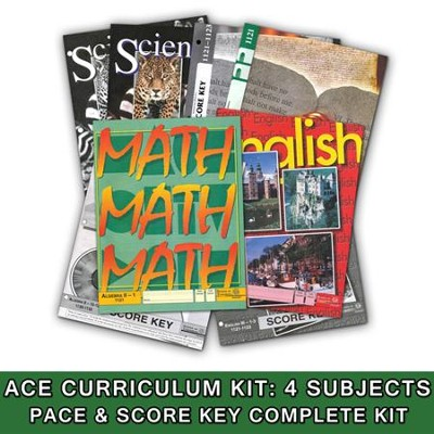 ACE Core Curriculum (4 Subjects), Single Student Complete PACE & Score Key Kit, Grade 11, 3rd Edition (with 4th Edition Social Studies)  -