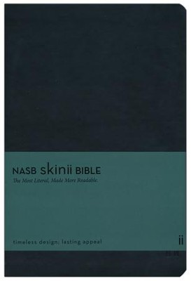 NASB Skinii Bible, Leather Bound, Black  -     By: Zondervan