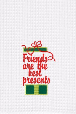 Friends Are the Best Presents, Christmas Decorative Towel  -