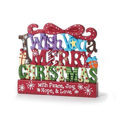 I Wish You a Merry Christmas Plaque  -