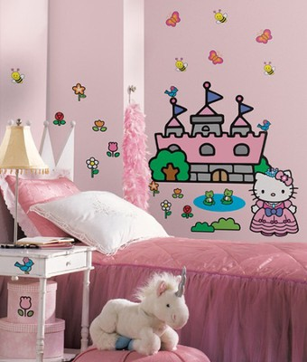 Hello Kitty, Vinyl Wall Stickers, Large  -