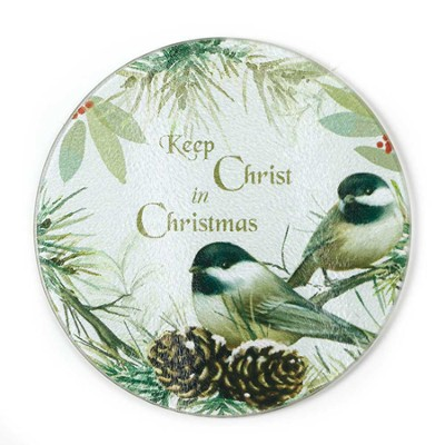 Keep Christ in Christmas Glass Cutting Board  -