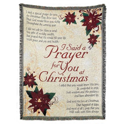 I Said a Prayer for You at Christmas Throw  -