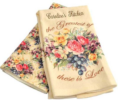 Personalized, Among The Roses, Kitchen Towel Set   -     By: Sandy Clough