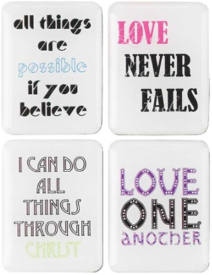 Inspirational Message Magnets, Set of 4  -