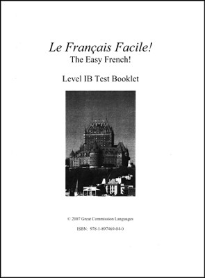Le Francais Facile! Test Book 1B   -     By: Marie Filion