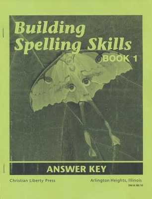 Building Spelling Skills Book 1 Answer Key, 2nd Edition, Grade 1    -