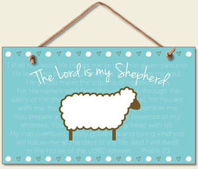 The Lord is My Shepherd Wood Sign  -