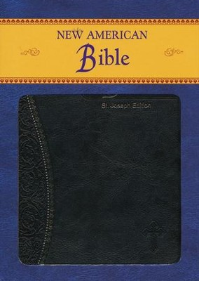 St. Joseph, New American Bible, Black, Imitation Leather, Medium, Gift Edition  -