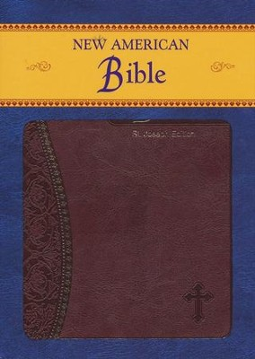 St Joseph, New American Bible, Burgundy, Imitation Leather, Medium, Gift Edition  -