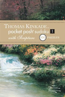 Pocket Sudoku with Scripture, Thomas Kinkade Artwork  -     By: Thomas Kinkade