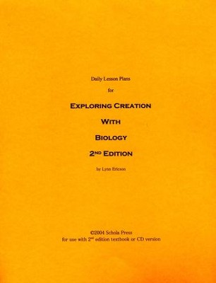 Daily Lesson Plans for Exploring Creation with Biology (2nd Edition)  -     By: Lynn Ericson