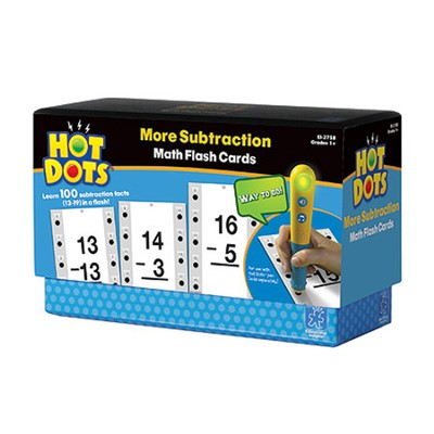 Hot Dots More Subtraction Flash Cards (13-19)   -