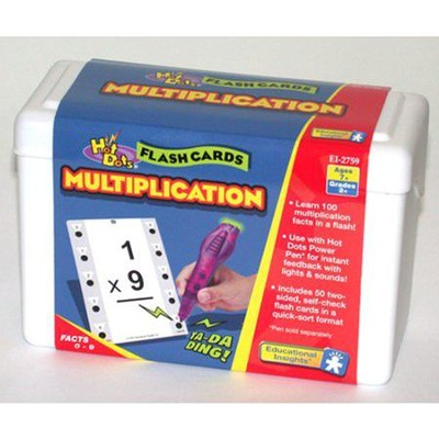 Hot Dots Multiplication Flash Cards   -