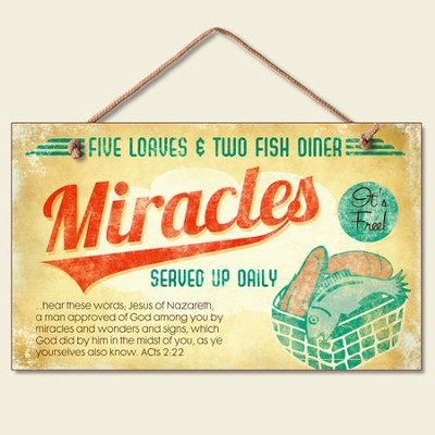 Miracles Wood Sign  -