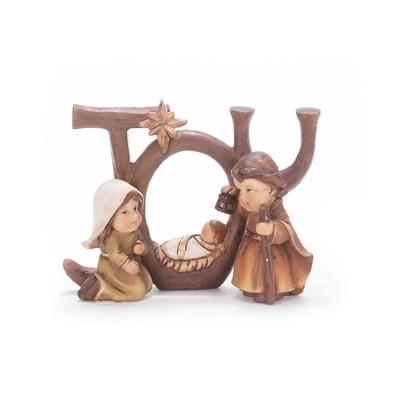 Joy with Children's Holy Family Figurine  -