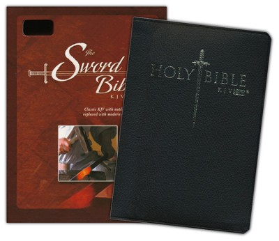 KJV Easy Reader Sword Bible, Personal Size, Bonded Leather, Black   -