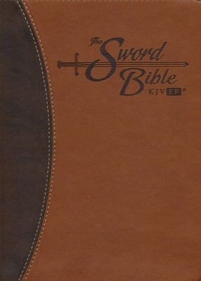 KJV Easy Reader Sword Bible, Personal Size, Leatherlike Brown/Brown Duotone   -