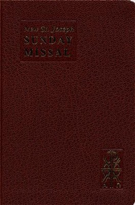 New St. Joseph Sunday Missal, Complete Edition  Bonded Leather, Brown  -