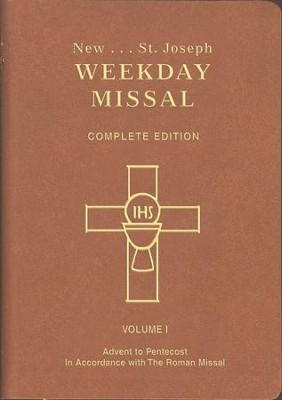 St. Joseph Weekday Missal, Complete Edition, Volume 1   Advent to Pentecost, Brown  -